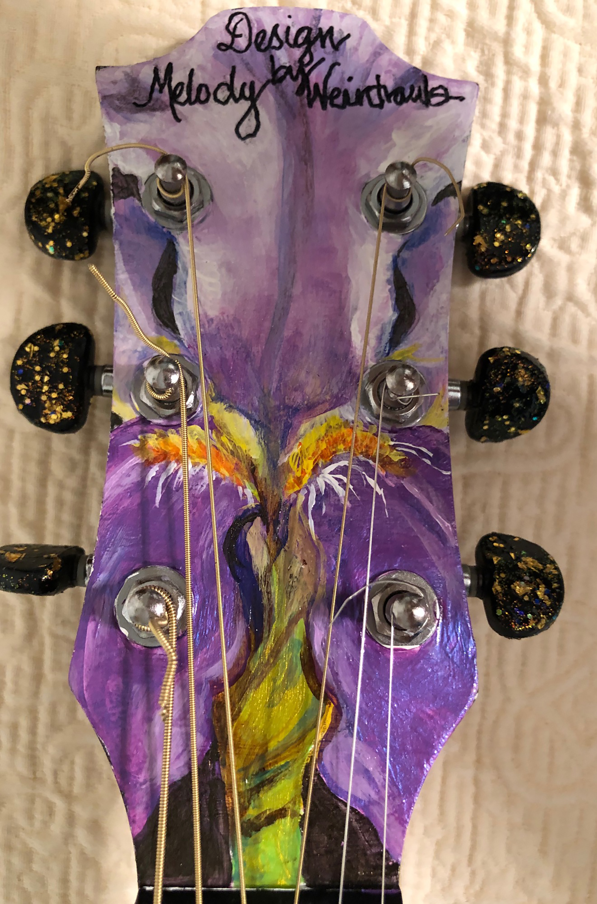 """Neck details for """"Tennessee Sounds,"""" by Melody Weintraub. DO NOT USE WITHOUT PERMISSION."""