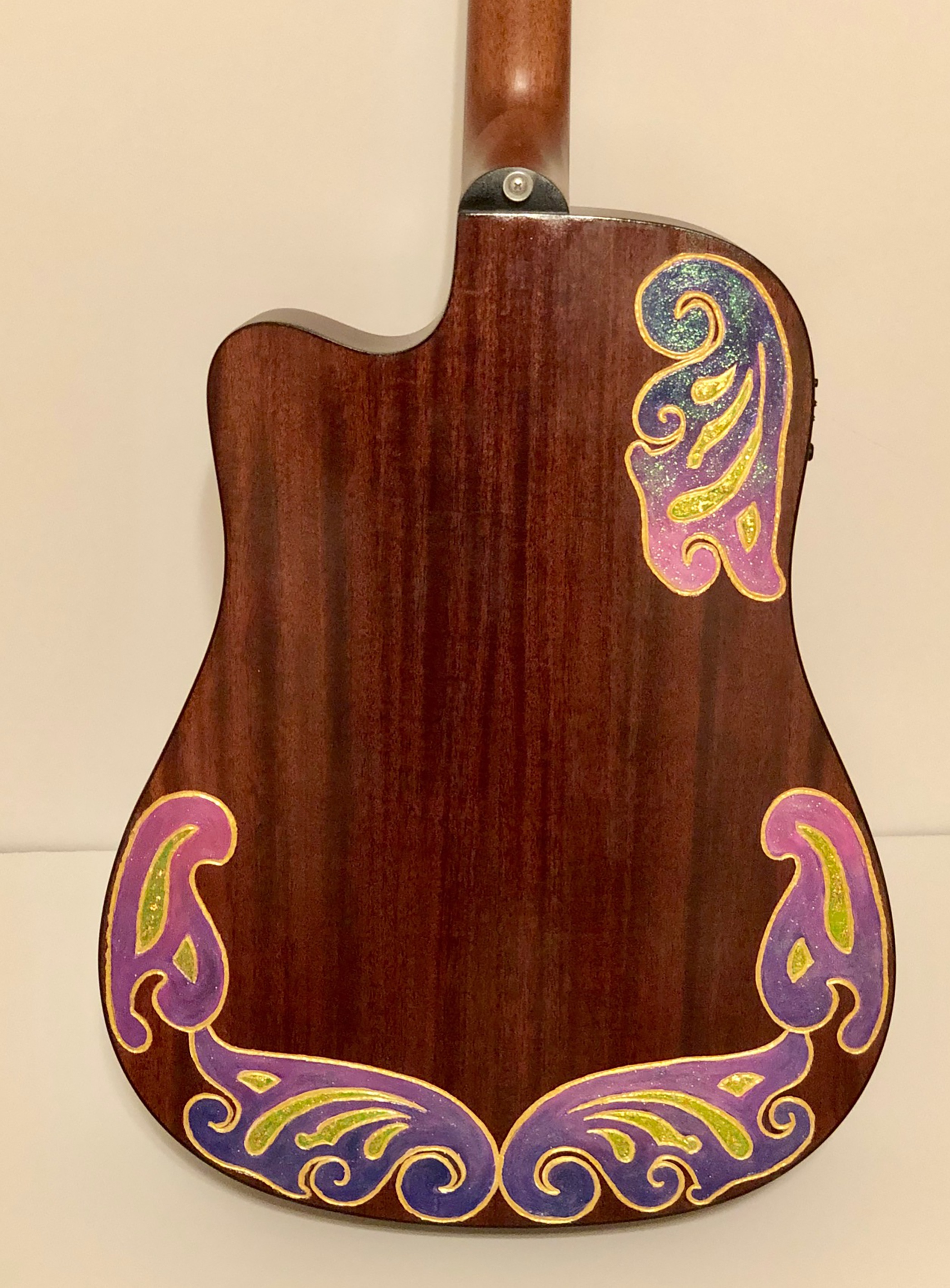 """Back of """"Tennessee Sounds"""" art guitar by Melody Weintraub. DO NOT USE WITHOUT PERMISSION."""