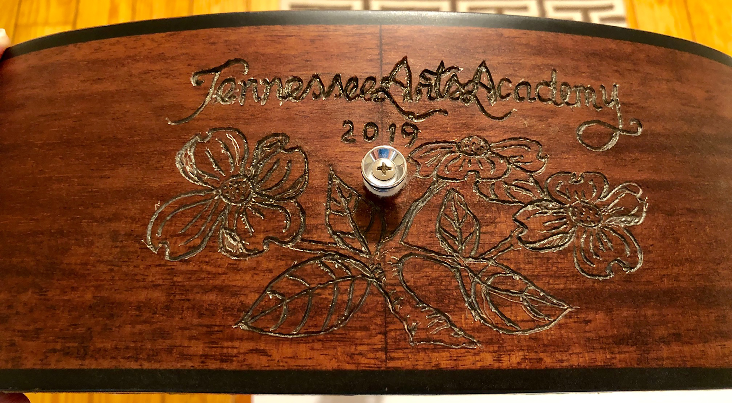 """""""Tennessee Sounds"""" art guitar by Melody Weintraub. DO NOT USE WITHOUT PERMISSION."""