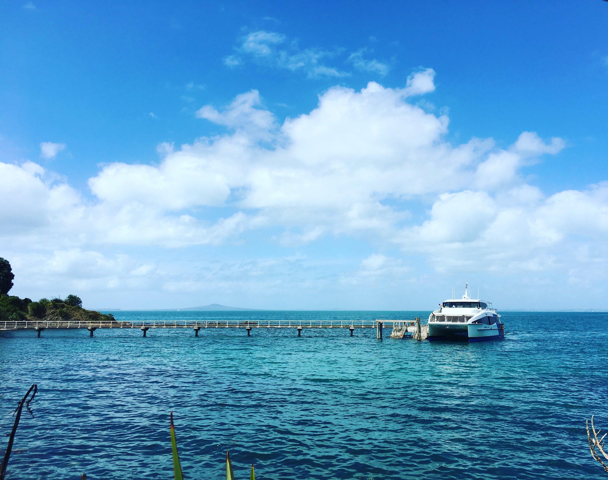 sparkling blue harbour…