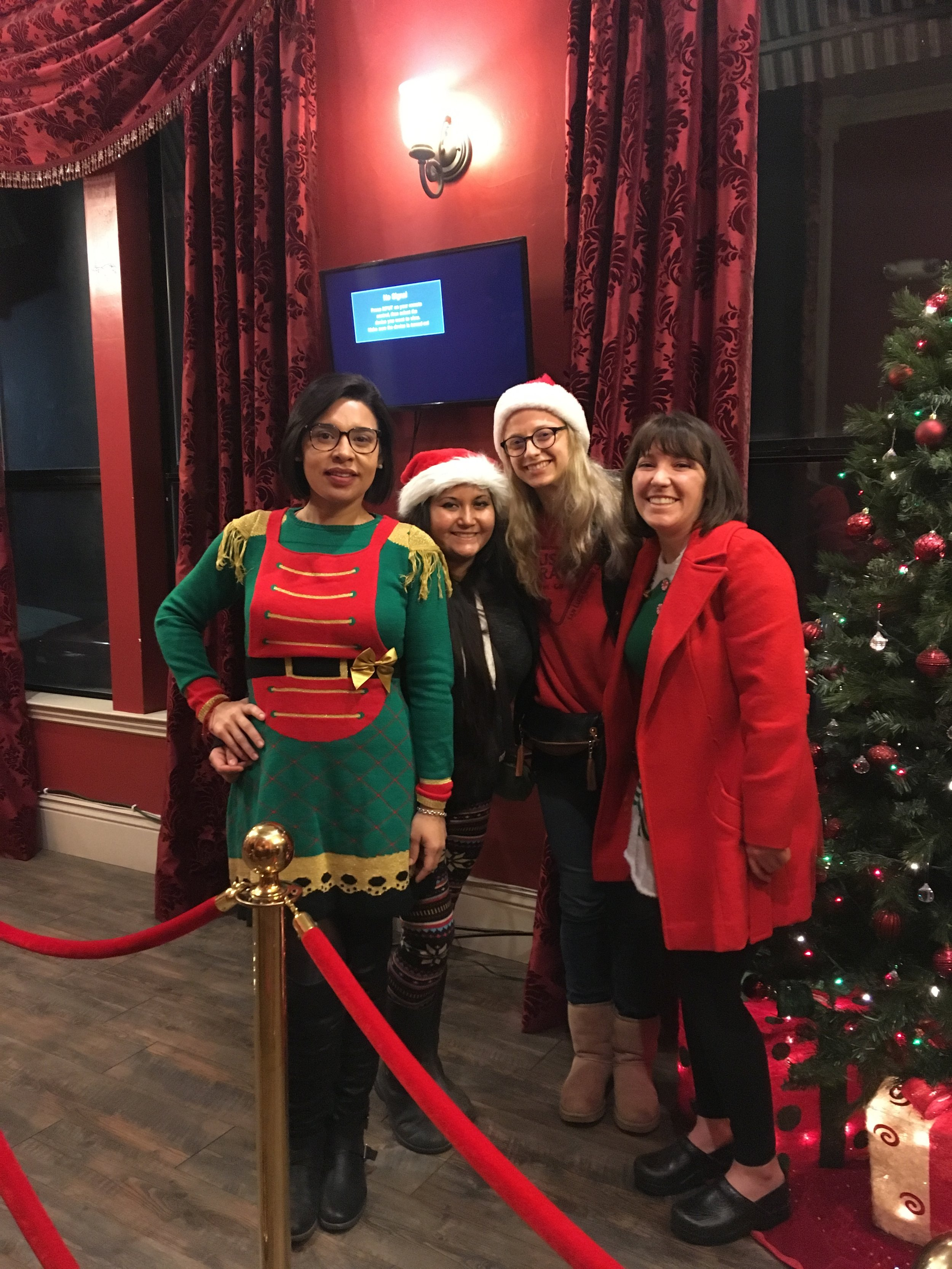 Our Elf Crew enjoying the local Melodrama during Christmas!