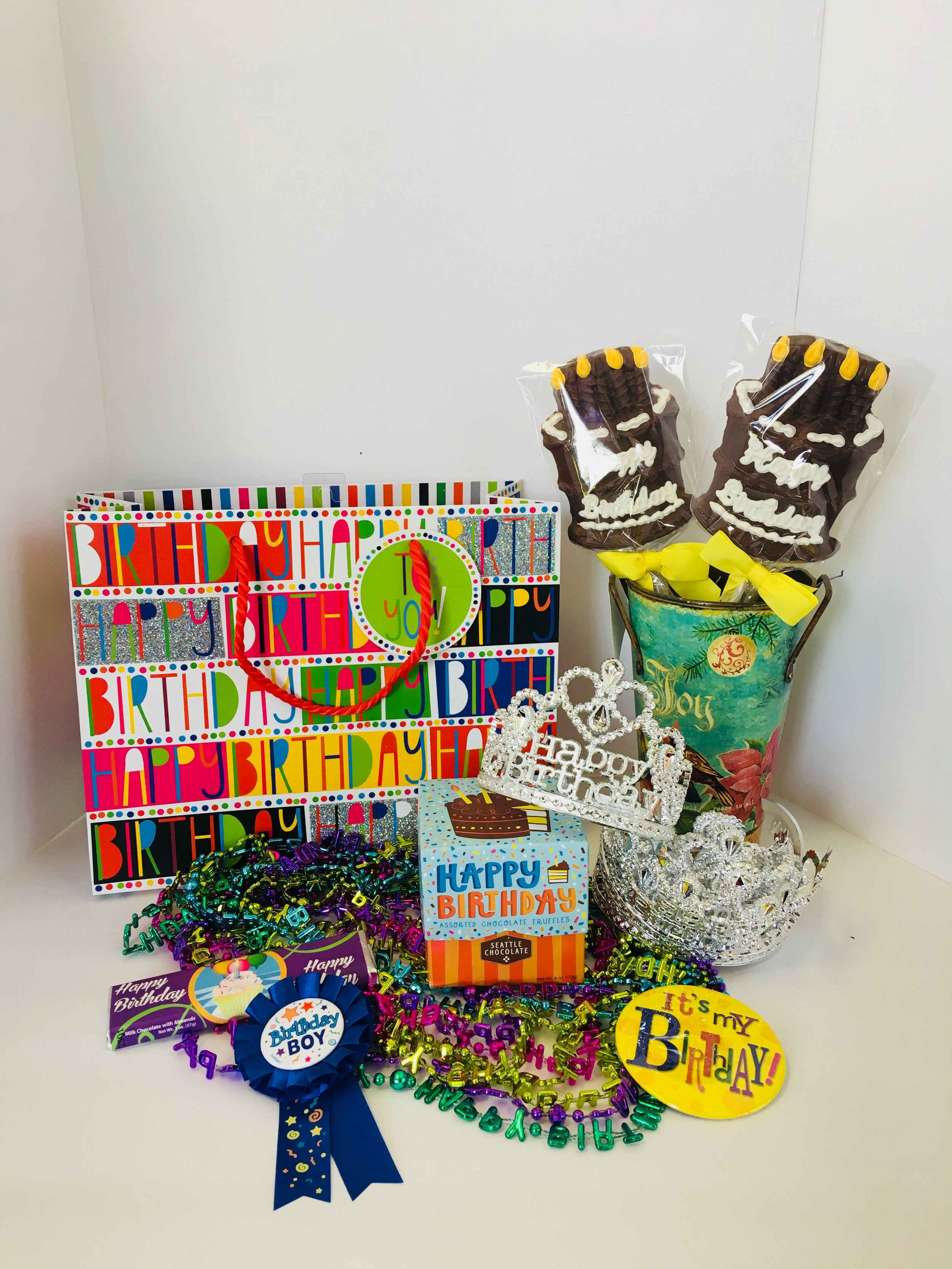 We can upgrade any gift with tons of birthday treats!