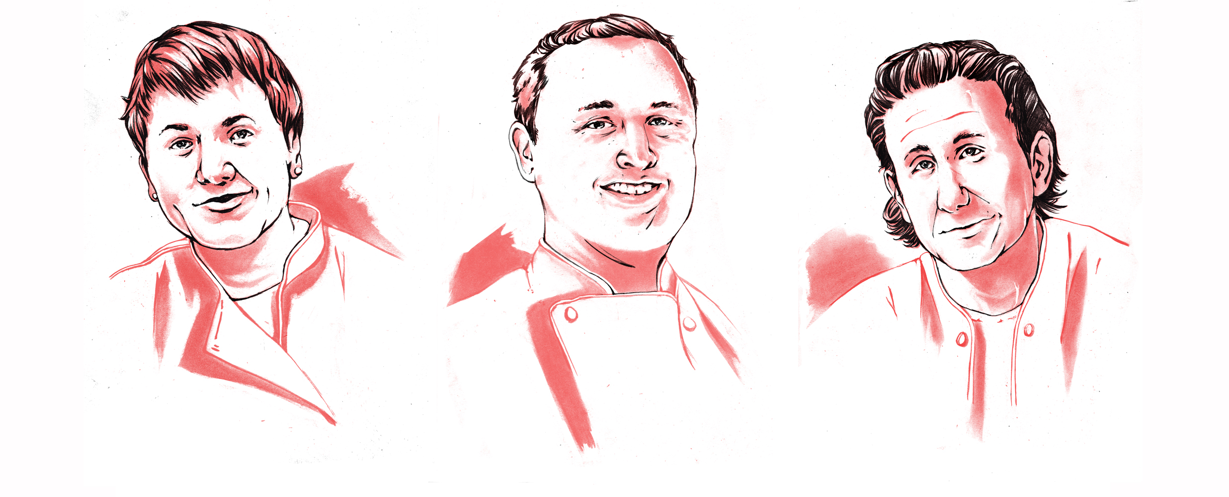 Selections from Chef Portraits created for Philly Magazines The (New) Cheap Eats Issue- October 2016
