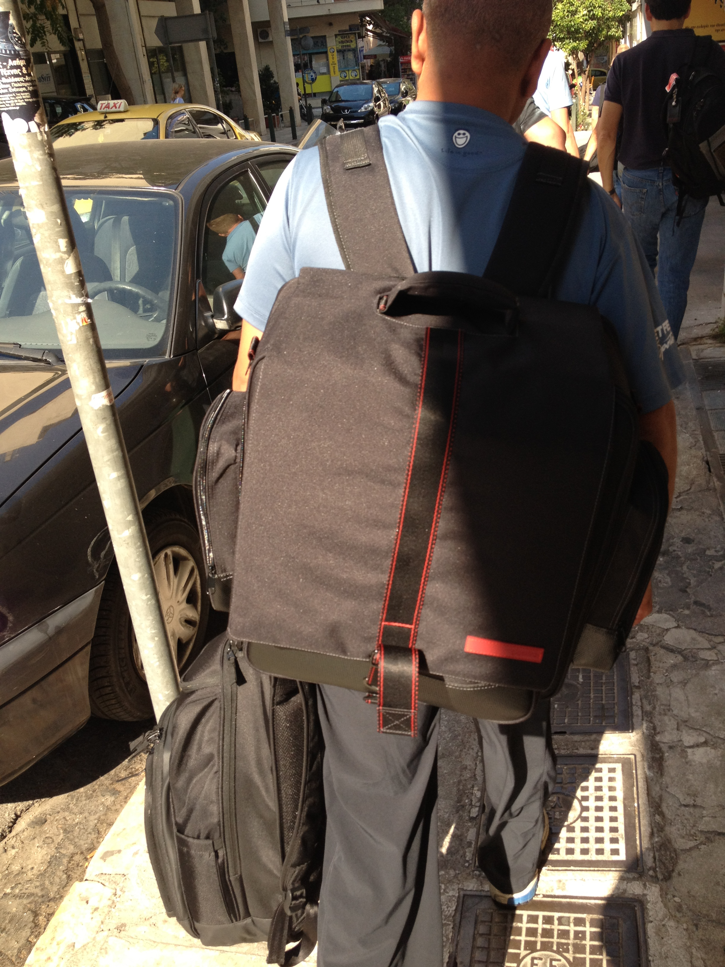 Gear in tow - Athens Greece
