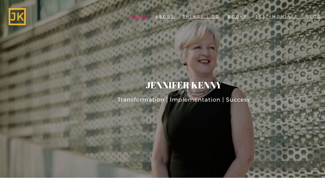 jenniferkenny.com - Features: Perfect example of professional and Personal Branding. Large colorful images, lots of blog content (SEO!) and plenty of CTA's