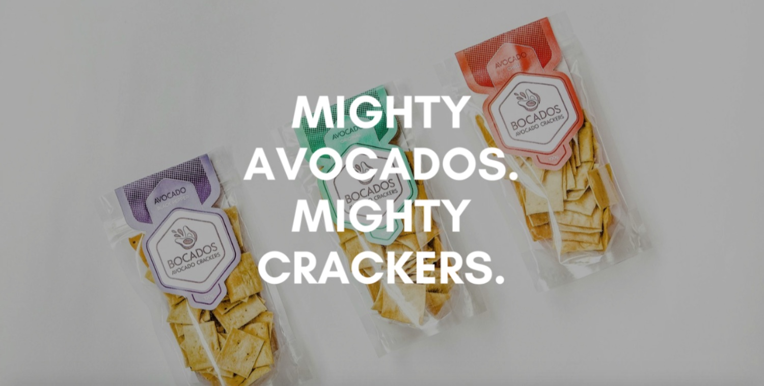 bocados.co.uk - UK based avocado crackers shop.Features: Use of clear and gorgeous imagery, full bleed and parallax effect throughout entire site. Simple logo + font styles. Great example of less = more.