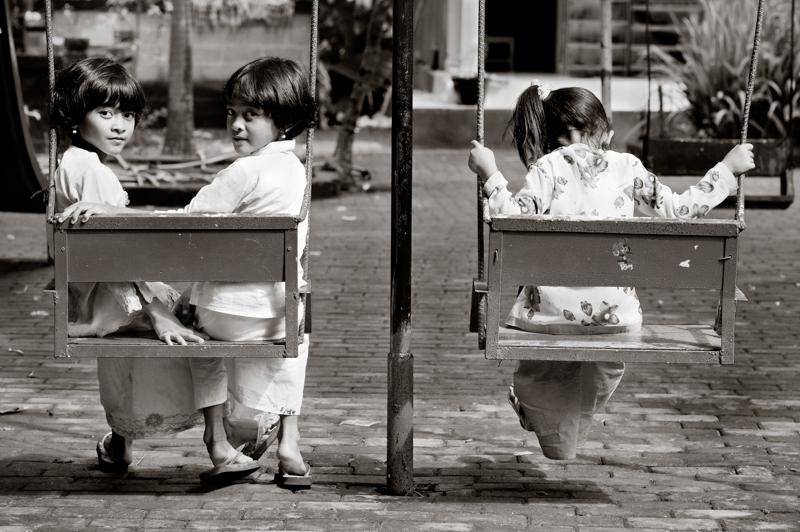 Girls at a pre-school in Bali. Shot for Bali Kids.