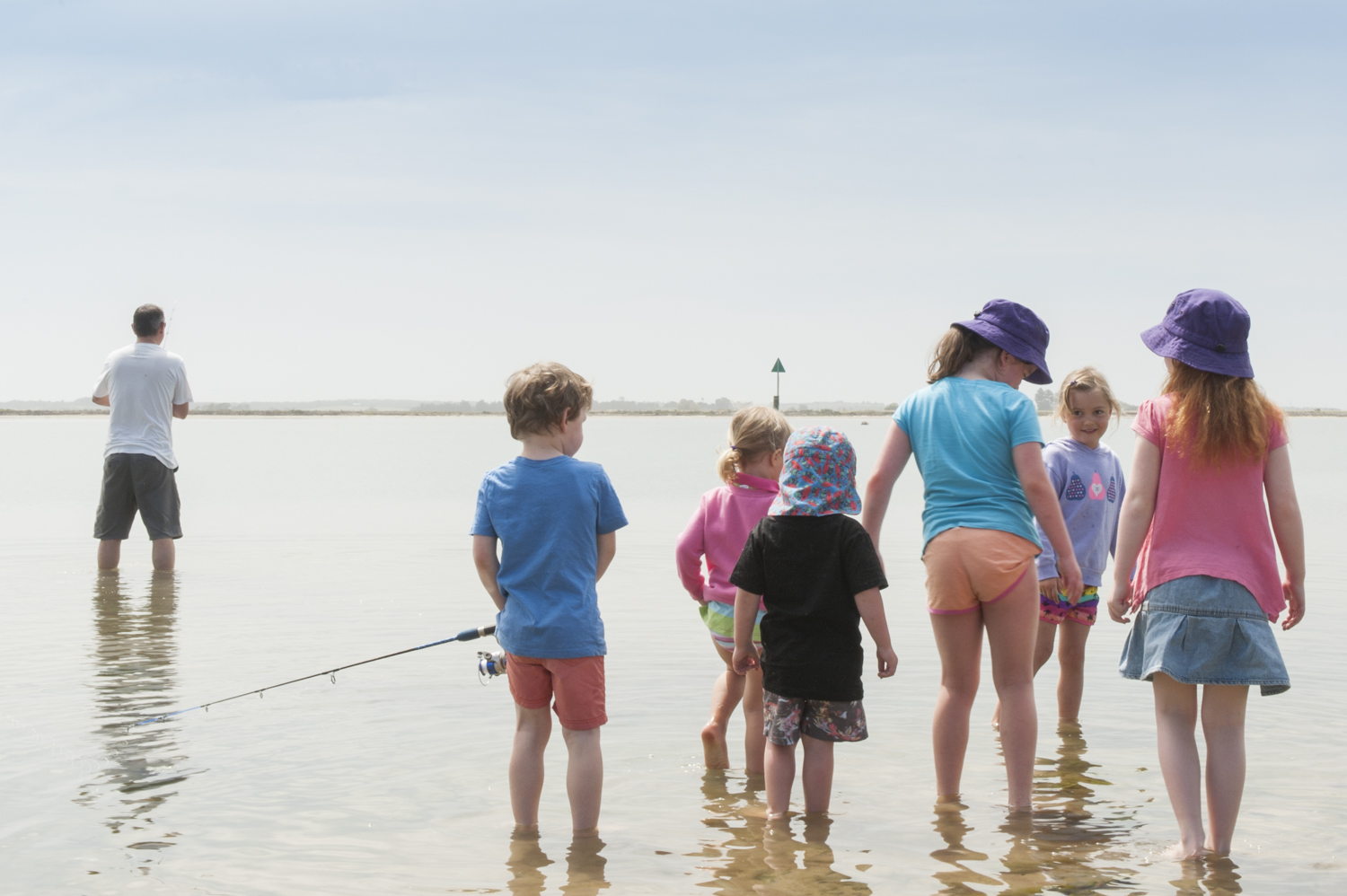 Coorong fishing - the kids were the only ones to catch fish.