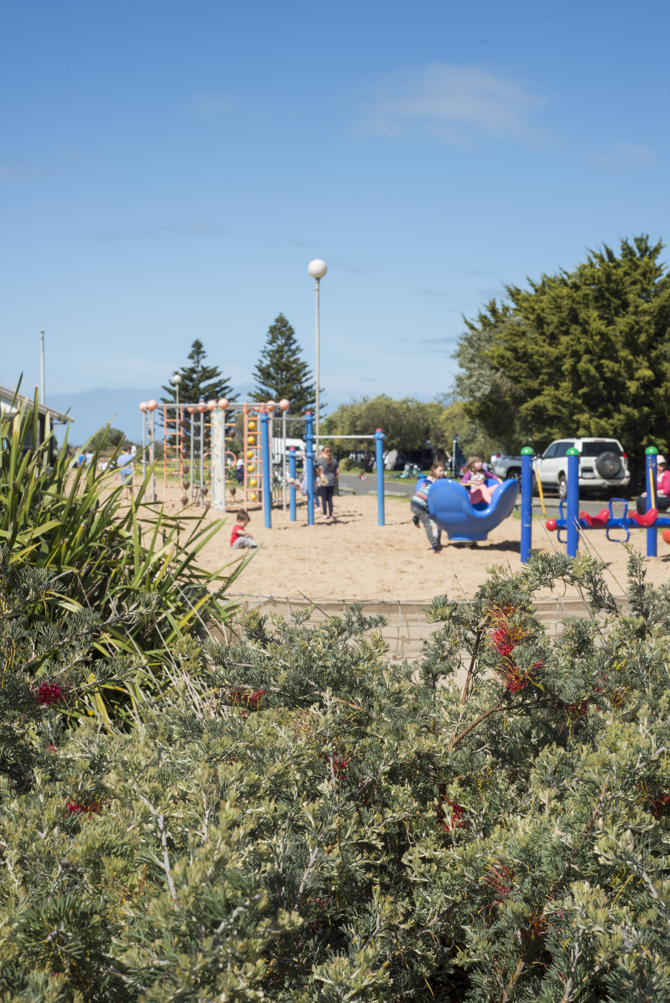 The playground which entertains the kids for most of the day at BIG 4 Port Elliot.