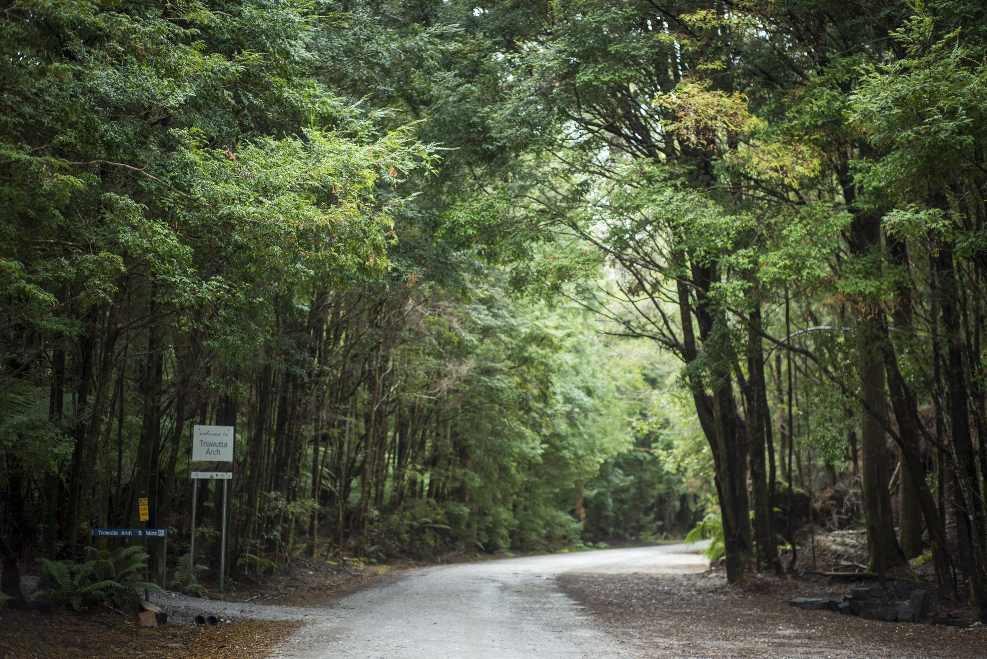 Carpark area at Trowutta Arch entrance.