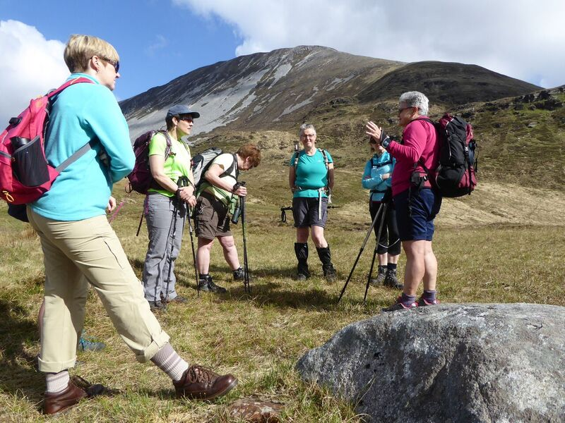Muckish Gap group – Trish Walsh from Petersburg OETC in Galway led a geological walk for Women with Altitude participants on Muckish, the group is pictured at Muckish Gap before their climb. The granite.jpg