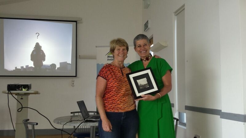Ursula MacPherson Gartan OETC and Mountaineering Ireland with adventurer Hannah Shields, guest speaker at the Women with Altitude event at Gartan Outdoor Education & Training Centre. Hannah was presented.jpg