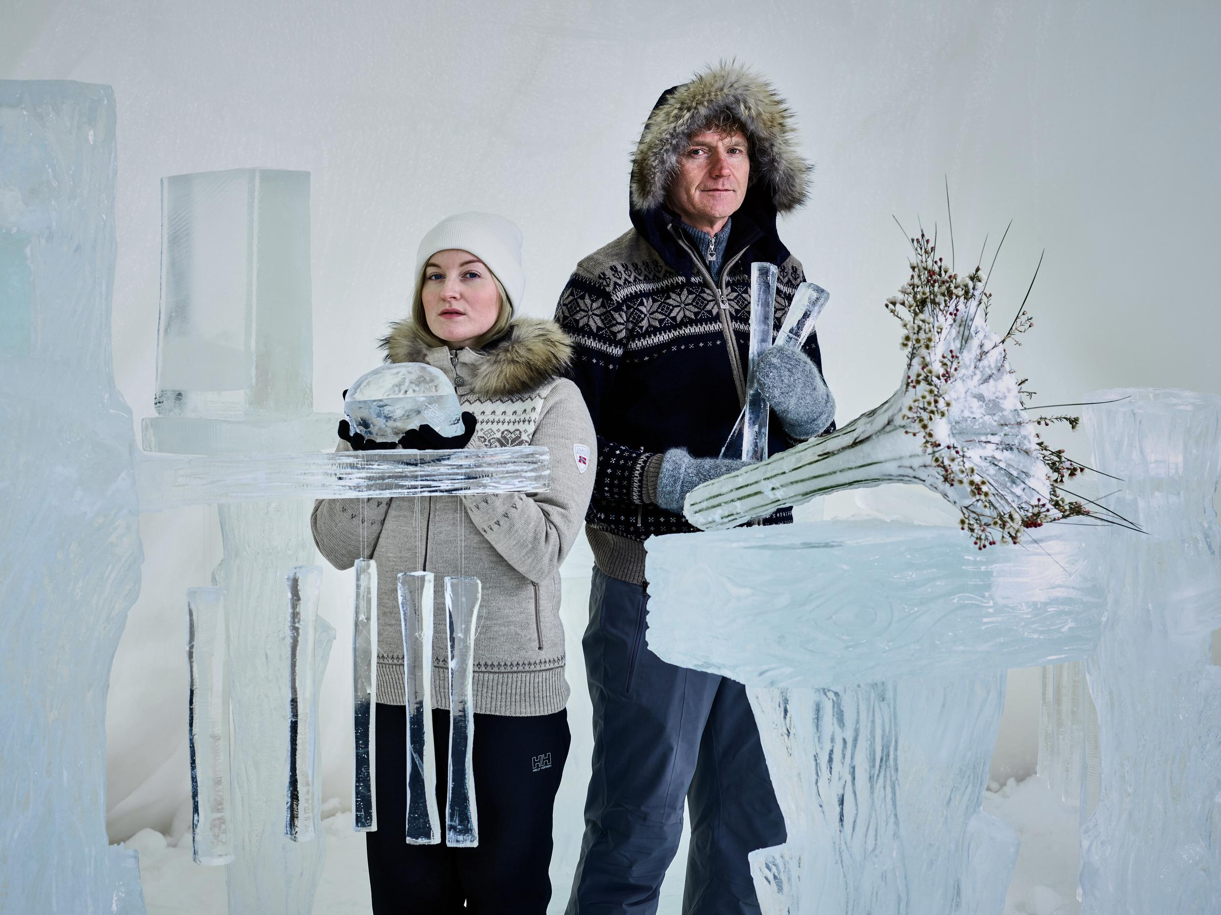 Icemusic 2016 Terje Isungset & Maria Skranes.Photo by Emile Holba.jpg