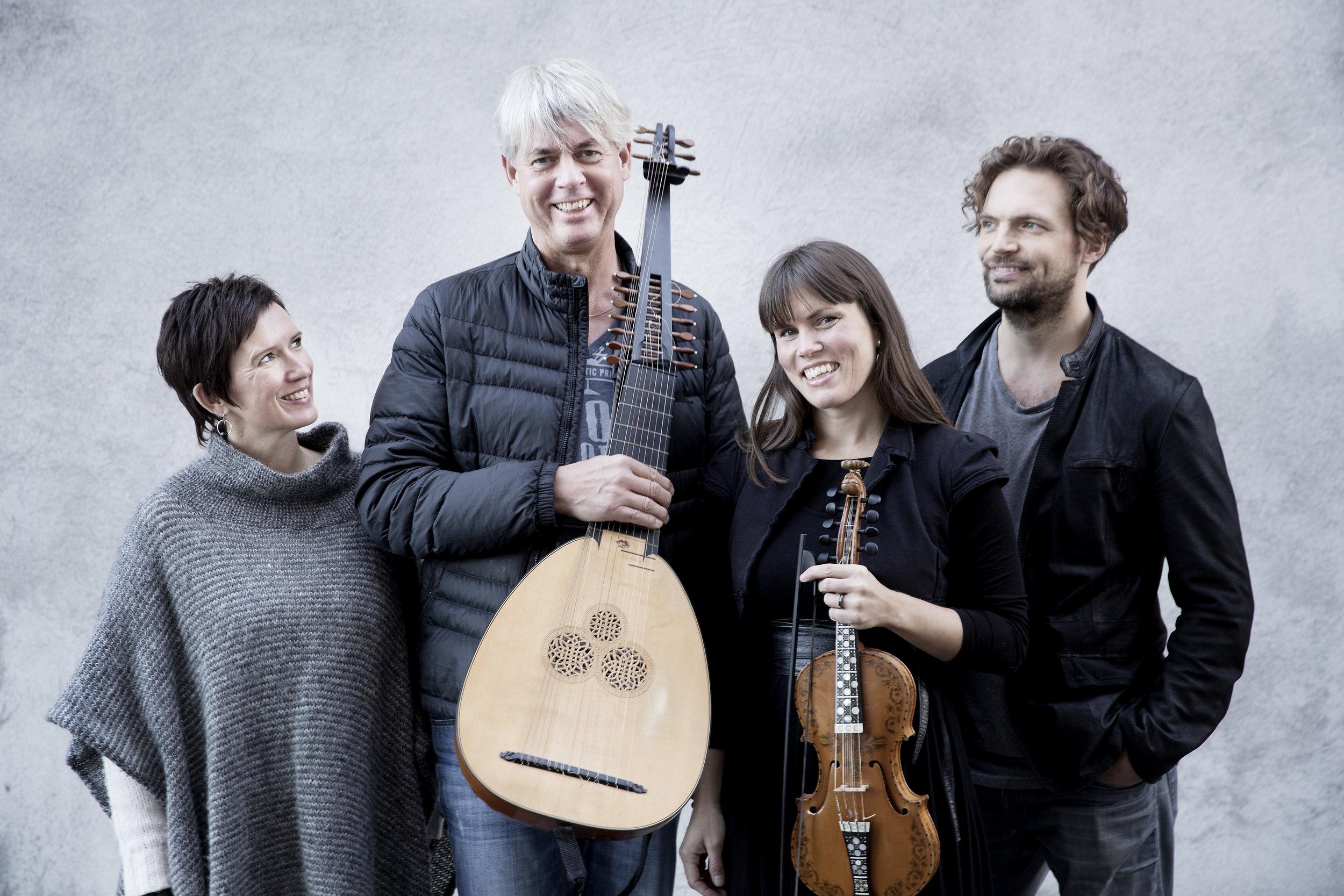 TIDEKVERV med Berit Opheim, Rolf Lislevand, Benedicte Maurseth og Håkon Mørch Stene. Foto: Paal Audestad