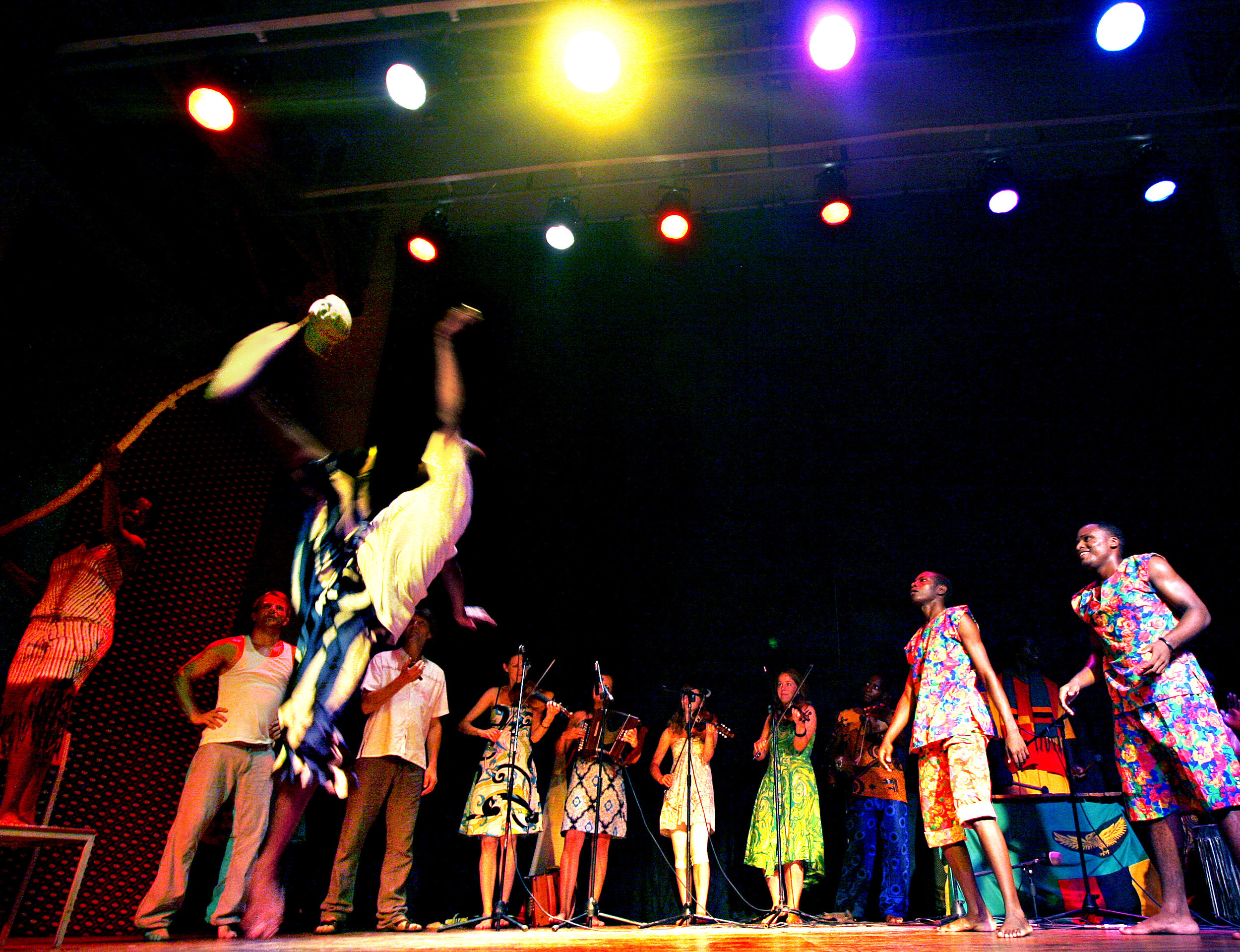 Talent 2009 med deltakarar frå Zambia, Tanzania og Norge. Foto: Heidi Hattestein.