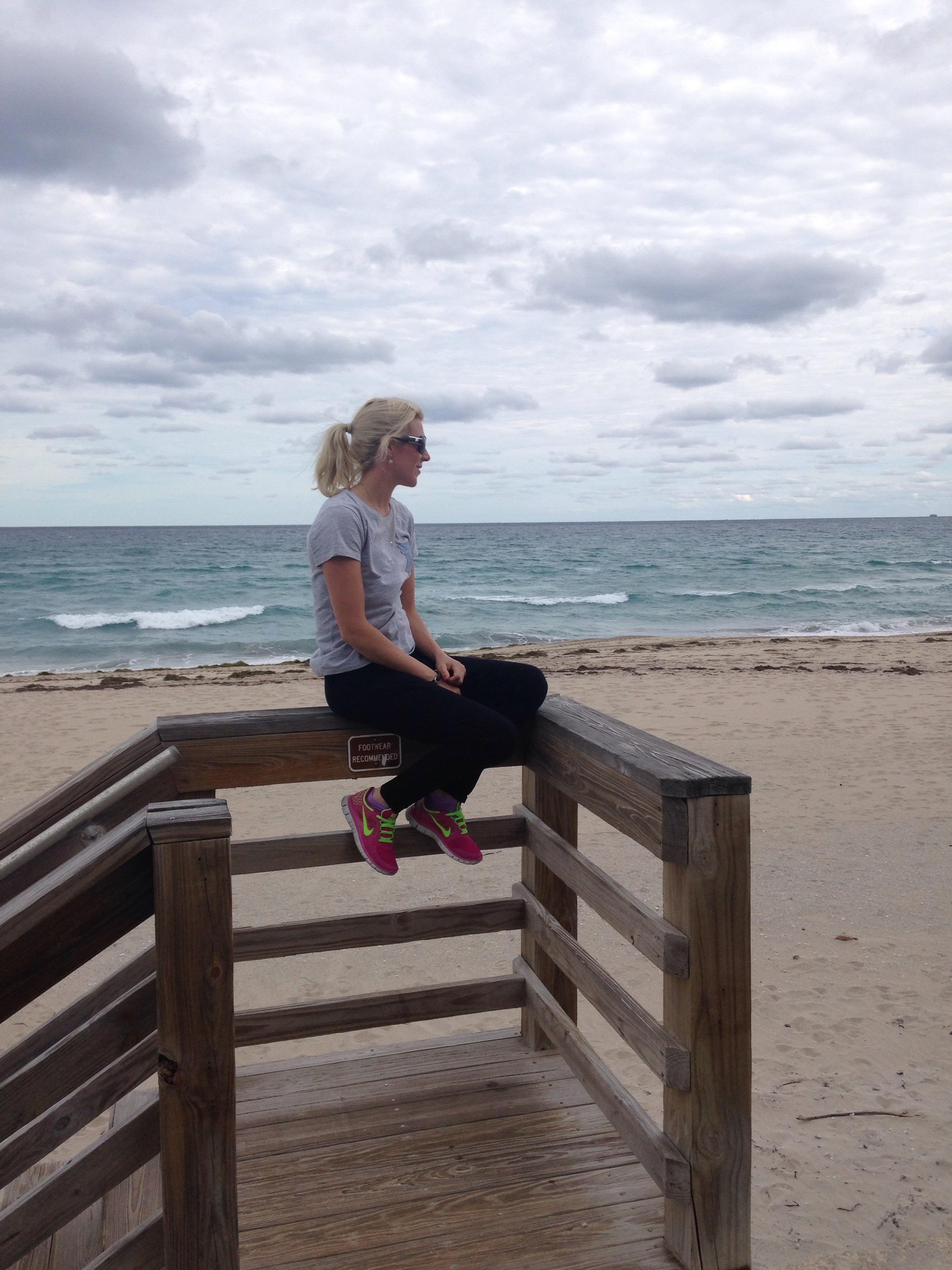 Palm beach, inte så jättevarmt just denna dag