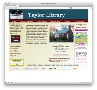 Learn more at the  Taylor Library website .