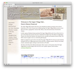 Visit the Upper Village Hall website to learn more.