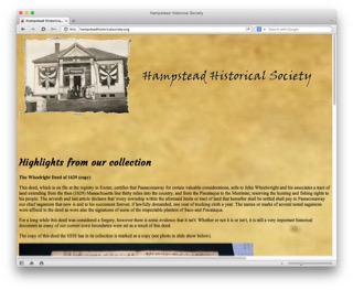 Visit the Hampstead Historical Society website to learn more