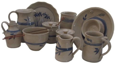 Handmade Stoneware by Michael Gibbons from his shop in East Derry's Upper Village
