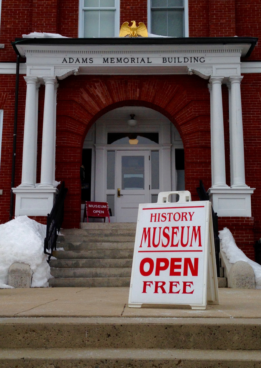 The Derry Museum of History is downstairs in the Adams Memorial Building in downtown Derry, at 29 W. Broadway.