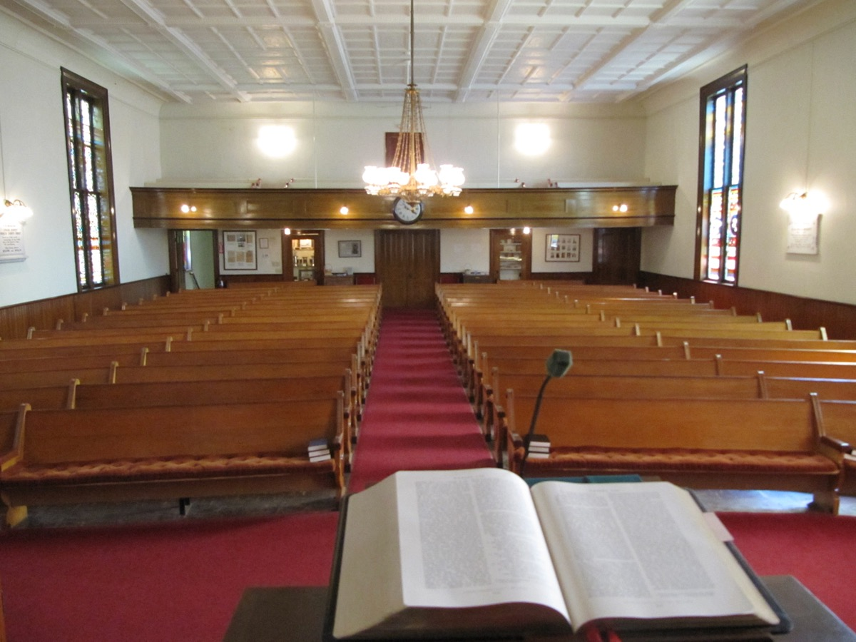 Looking back to the Sanctuary (before preservation work began).