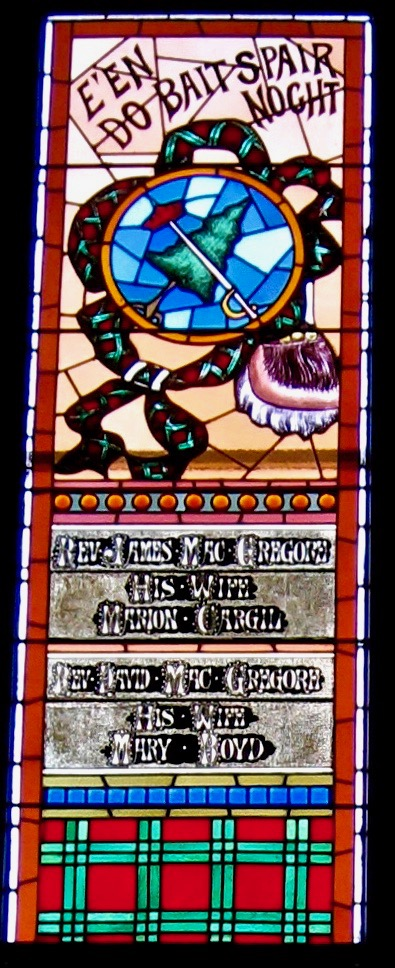 """MacGregor Window: """"Act carefully but spare nothing."""""""