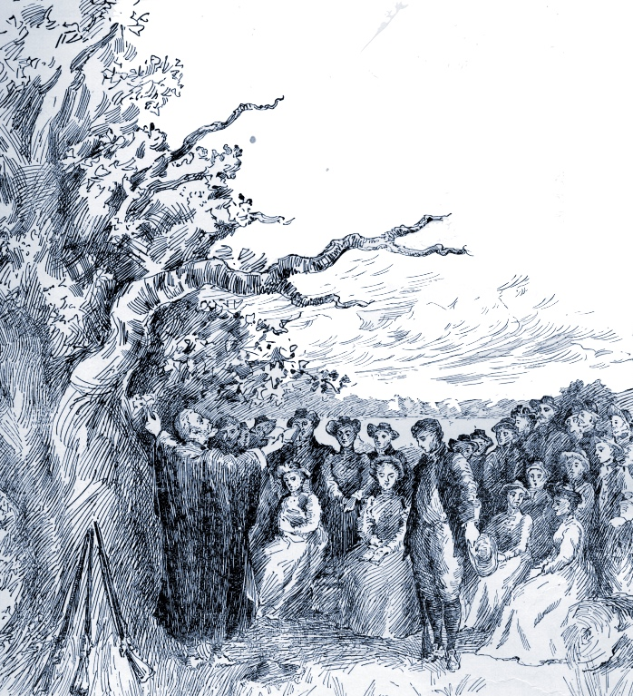 """The First Sermon in Nutfield"""" from  Willey's Book of Nutfield , p. 52."""