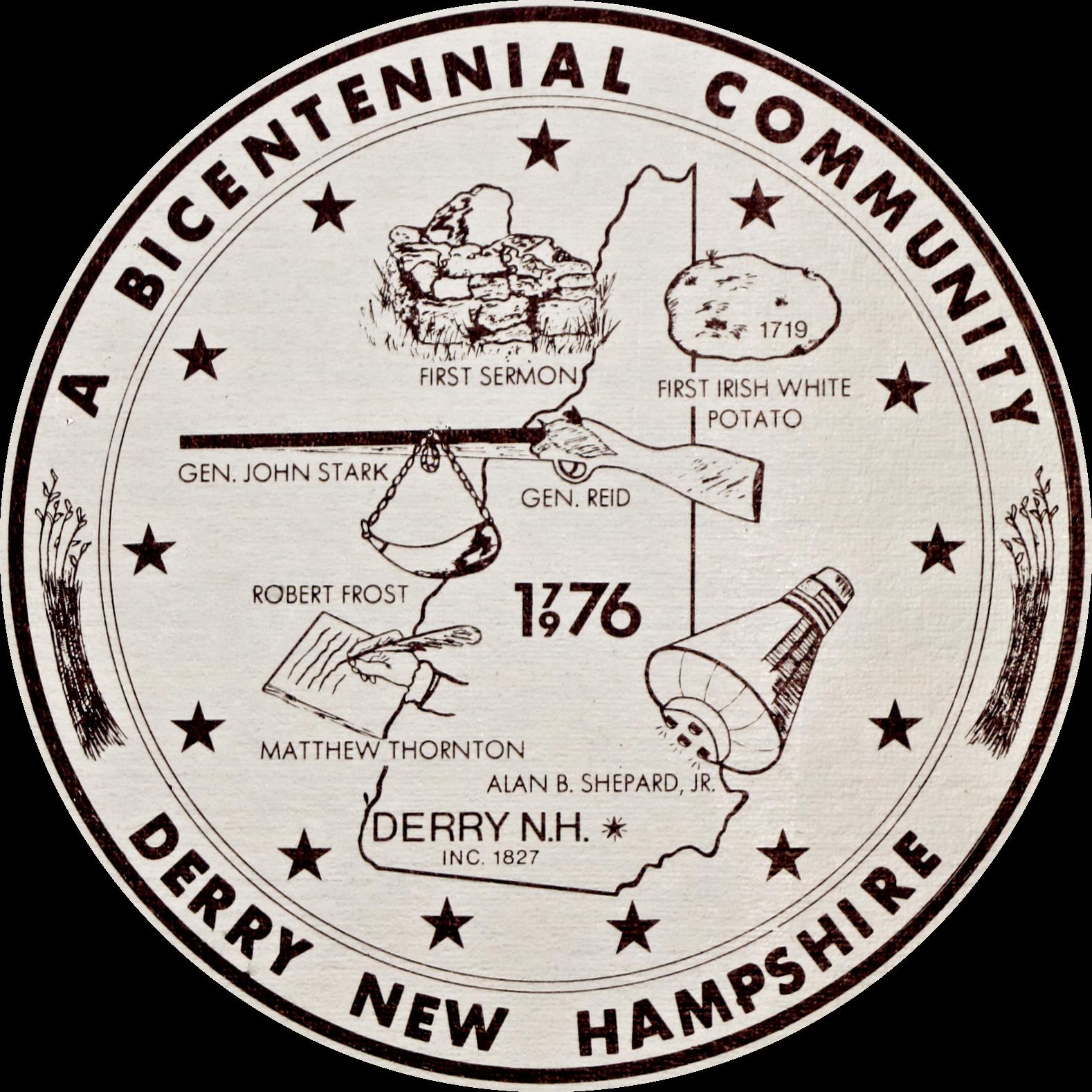 1976 Bicentennial Derry Logo by Joseph Hines