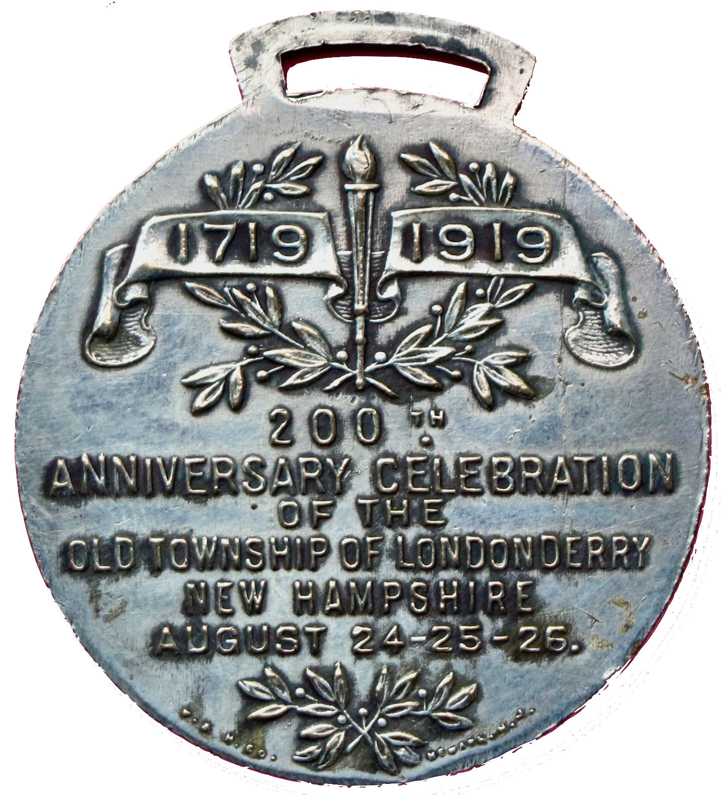 200th Watch Fob back