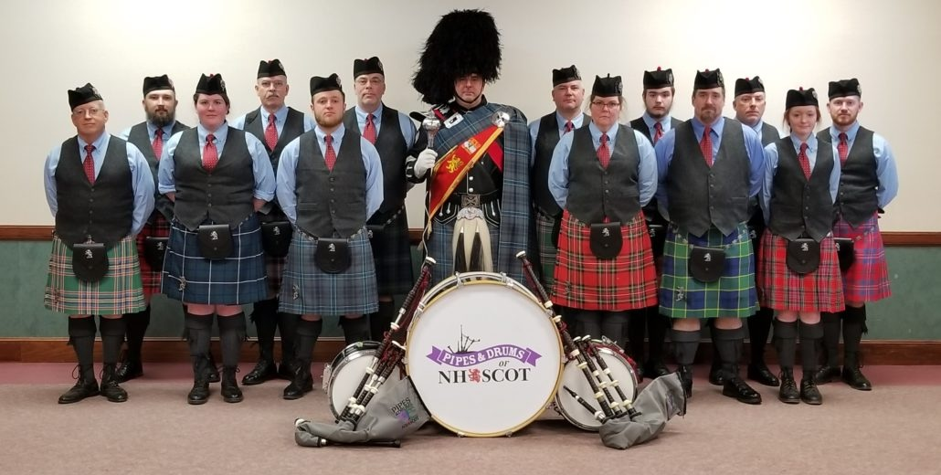 The Pipes & Drums of NH SCOT ( https://nhscot.org/pipeband/ )