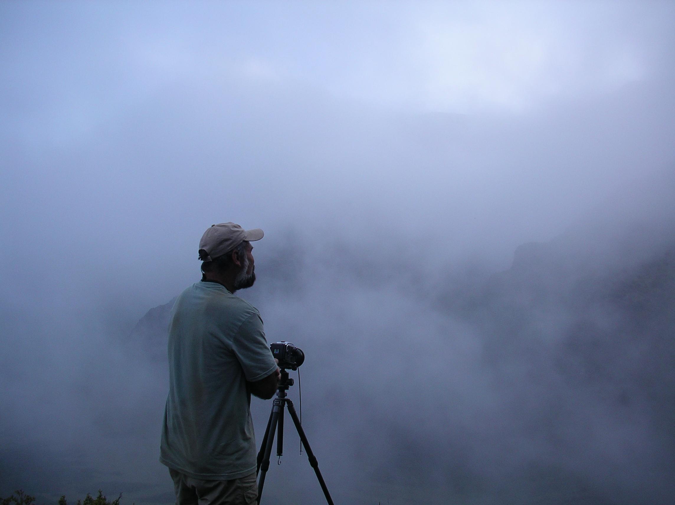 Hardie Truesdale working in Haleakala National Park, HI  ©Stephanie Truesdale
