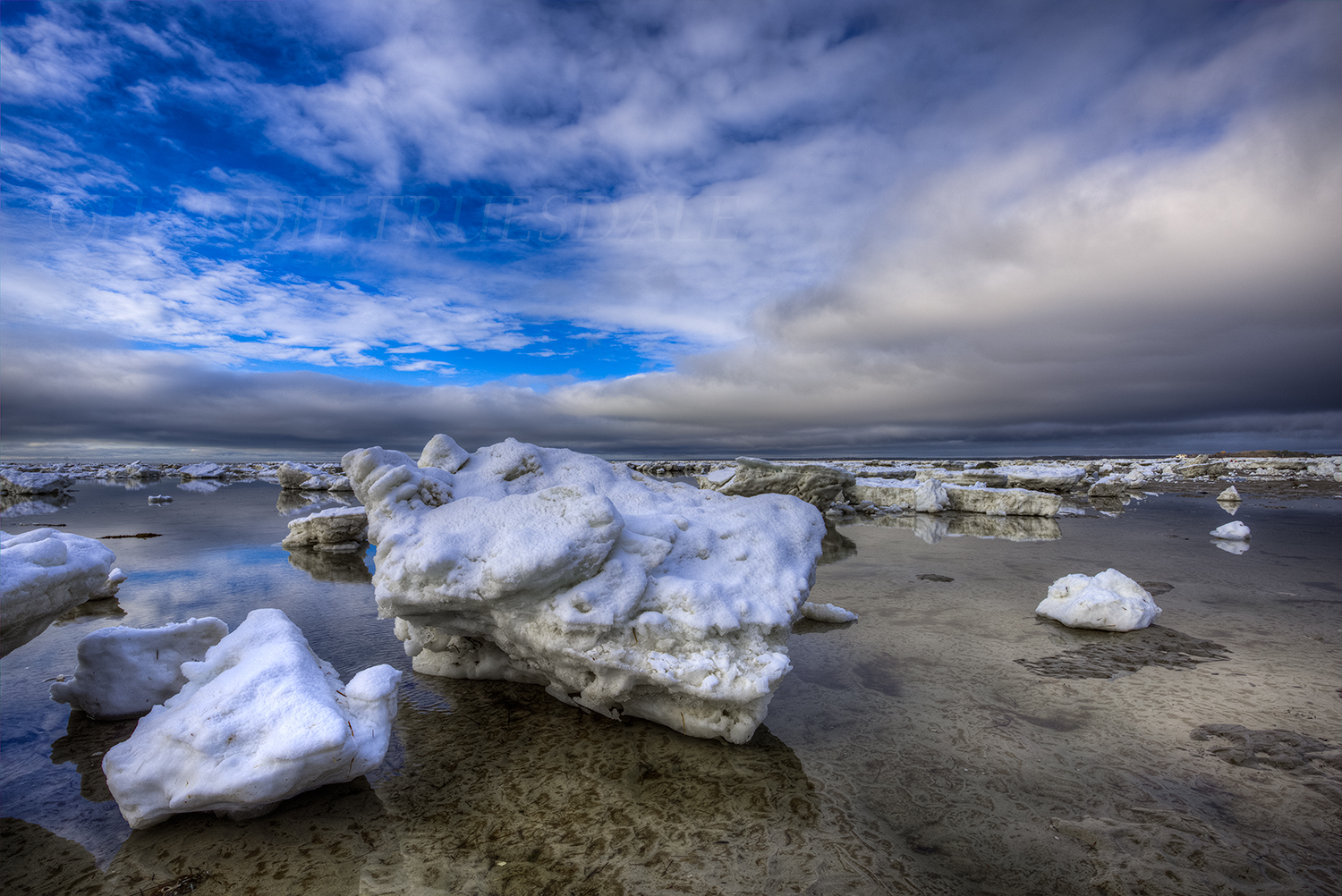 CC 118 Ice Blocks, Skaket Beach, Cape Cod
