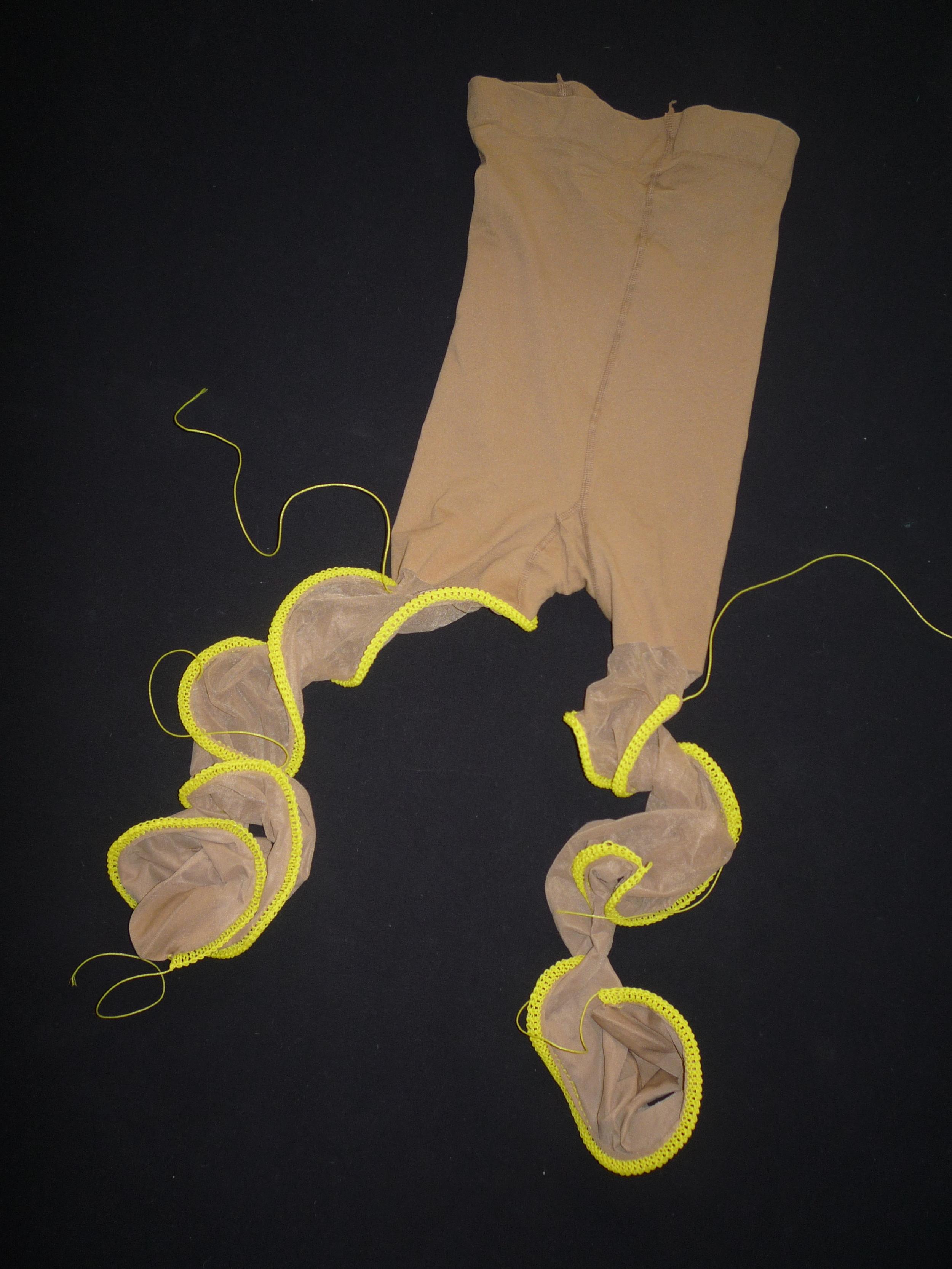 Nur Du, Nylons, cord, knitted, 109x50x3 cm