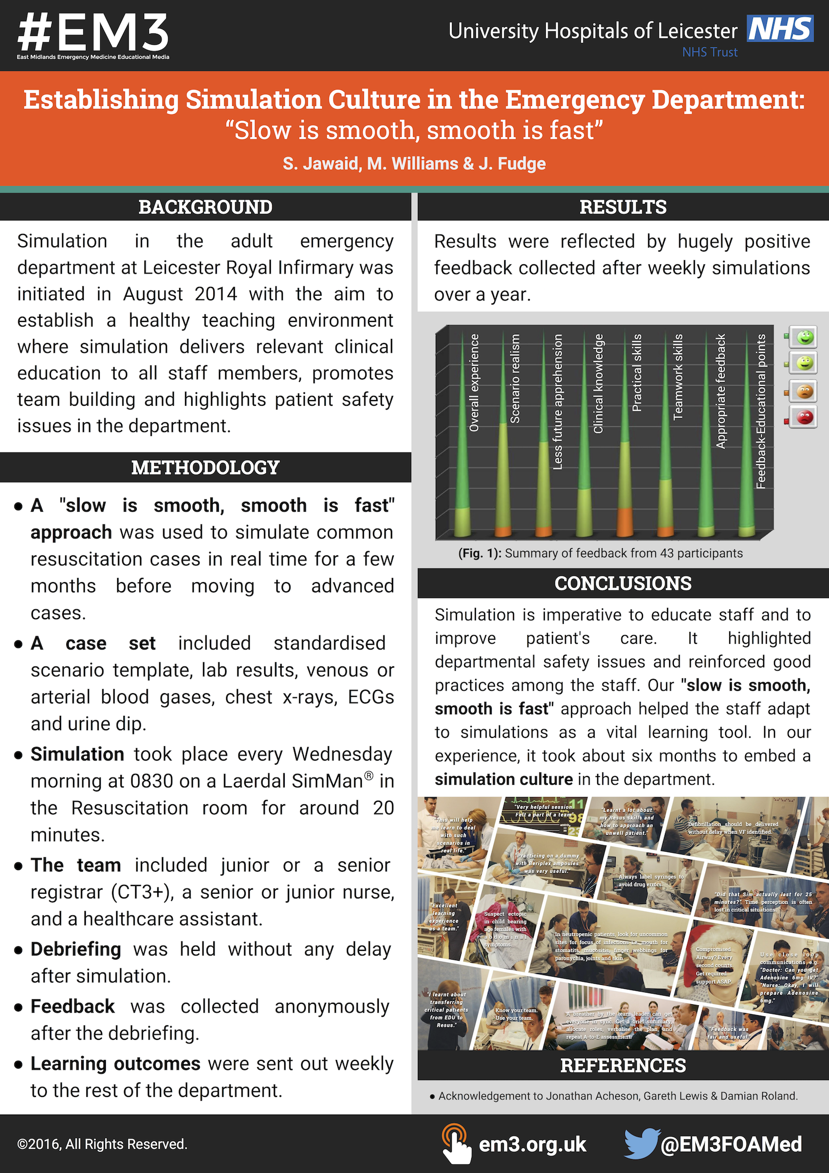 Establishing Simulation Culture in the Emergency Department -Slow is smooth, smooth is fast- by Saad Jawaid (RCEM16 poster - A0).png