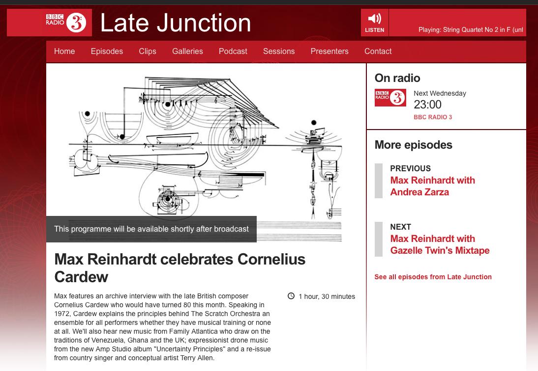 Late Junction BBC Radio3