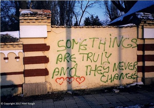 Graffiti. Sofia, Bulgaria. February 1996. Photo by Abel Keogh.