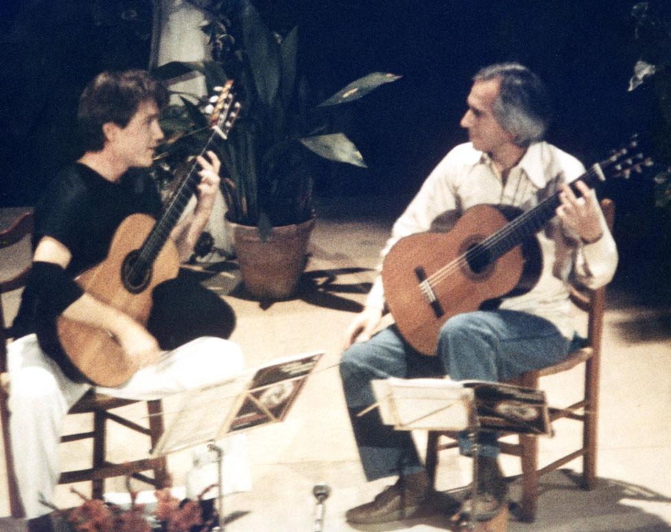 with John Williams, Cordoba, Spain