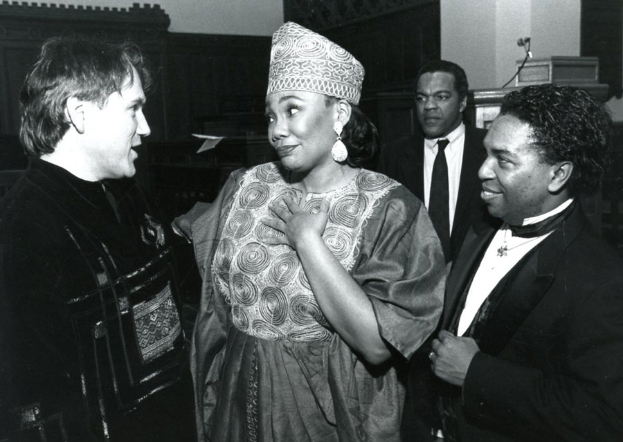 with Yolanda King and Richard Alston 1996