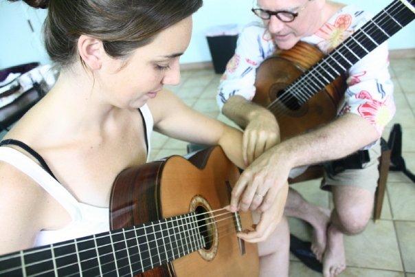 Ben teaching Sophia Gleeson on Maui
