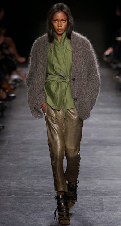 Isabel Marant dictated a color story we coveted.....Greenery, Stone, and Adobe