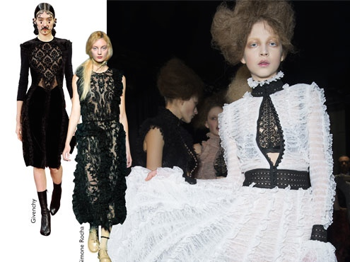 If you love black, black, and more black, you will love the VICTORIAN GOTHIC. Don't hesitate to pop your LBD with shots of white. Conversely, don't hesitate to add black accents to your white fall garments. Yes, white is right for Fall 2015.