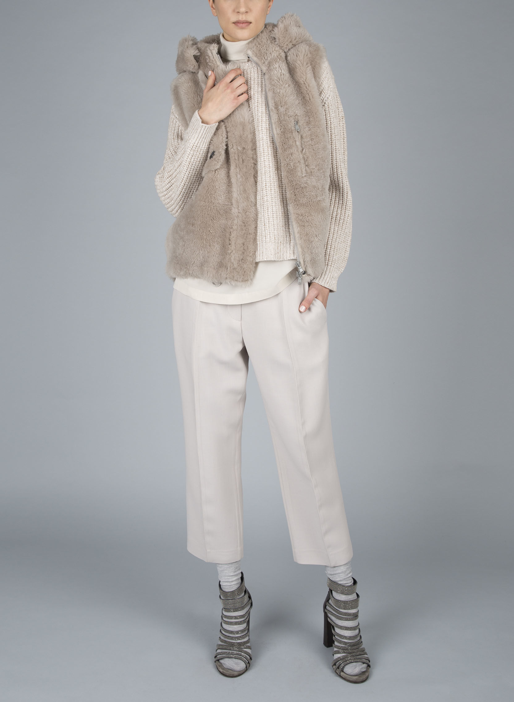 Maybe you are a MINIMALIST. Do you like to wear neutrals and keep your color scheme within the same tones? This may be your ticket. Remember you can be a MINIMALIST and still wear fur and funky shoes! Brunello Cucinelli's designs shown here are always within the MINIMALIST spectrum.