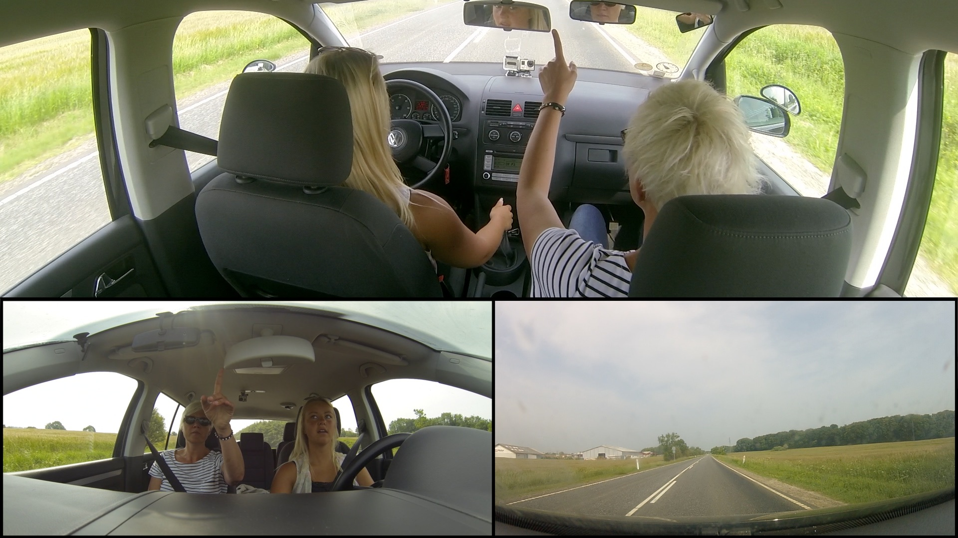 Videos shot with go-pro cameras // following a drivers license course.