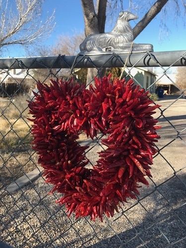A special chili ristra for you. Albuquerque, New Mexico