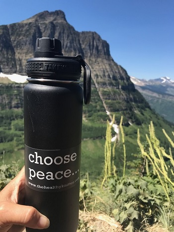 Choose peace… and water.  Glacier National Park, Montana