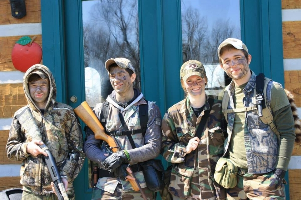 Out hunting with B and his brothers / my brothers! :)