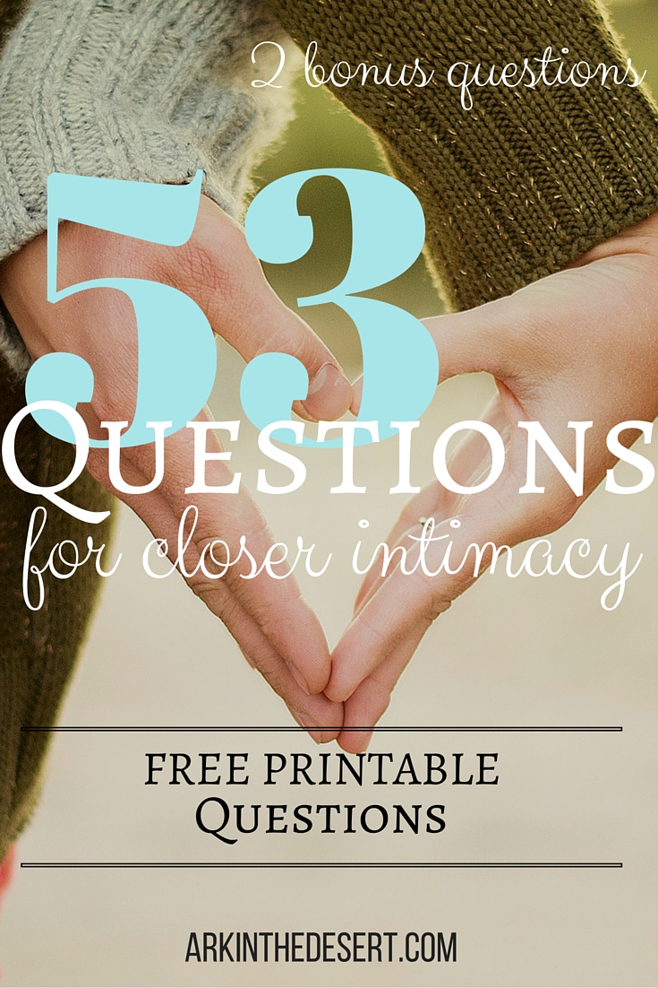 53 Questions for Closer Intimacy