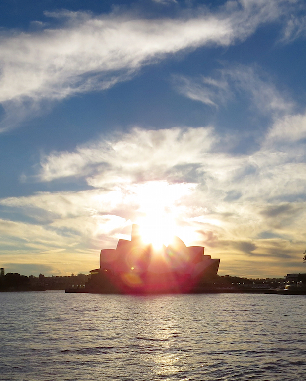 Sidney Opera house in the morning sun
