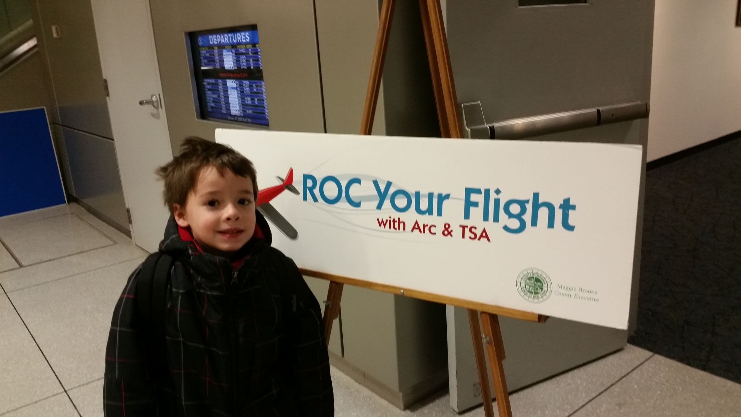 My son Emerson was my guinea pig at the ROC Your Flight event.
